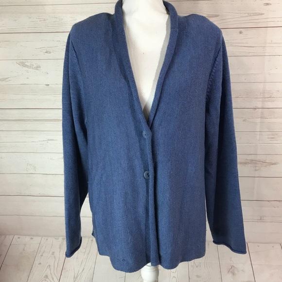 EILEEN FISHER Women/'s XL//1X Cardigan Sweater merino wool